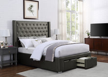 Load image into Gallery viewer, Luxor King Platform Storage Bed - Grey Leatherette