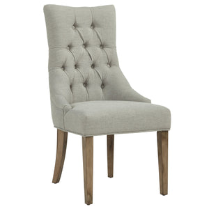 Candace & Basil Furniture |  Accent Chair - Grey W/Grey Leg