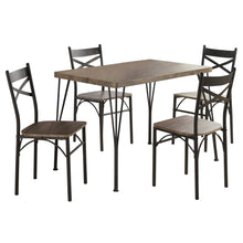 Load image into Gallery viewer, Tiago 5PC Dining Set - Rustic Oak