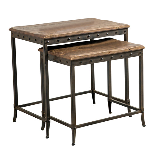 Candace & Basil Furniture |  2Pc Nesting Tbl - Distressed Pine