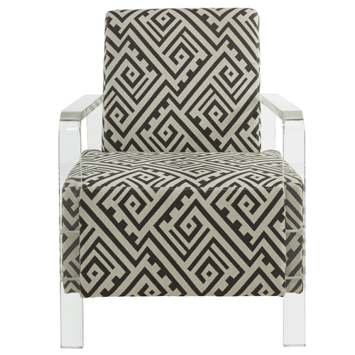 Candace & Basil Furniture |  Acrylic Accent Chair - Gry/White