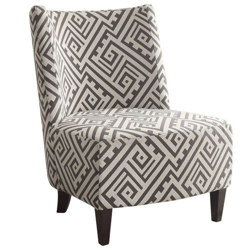 Candace & Basil Furniture |  Accent Chair - Grey/White