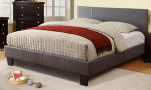 Ultra Platform Double/Full Bed - Grey Leatherette