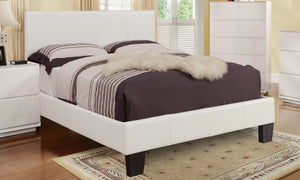 Ultra Platform Queen Bed - White Leatherette