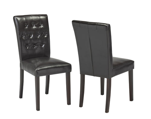 Candace & Basil Furniture |  Espresso Tufted Dining Chair (Set of 2)