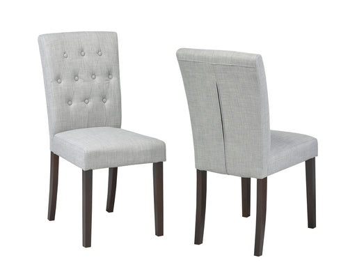 Candace & Basil Furniture |  Grey Tufted Dining Chair (Set of 2)