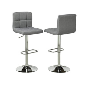 Candace & Basil Furniture |  Jasper Grey Bar Stools (Set of 2)