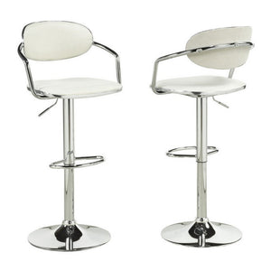 Candace & Basil Furniture |  Everleigh White Bar Stools (Set of 2)