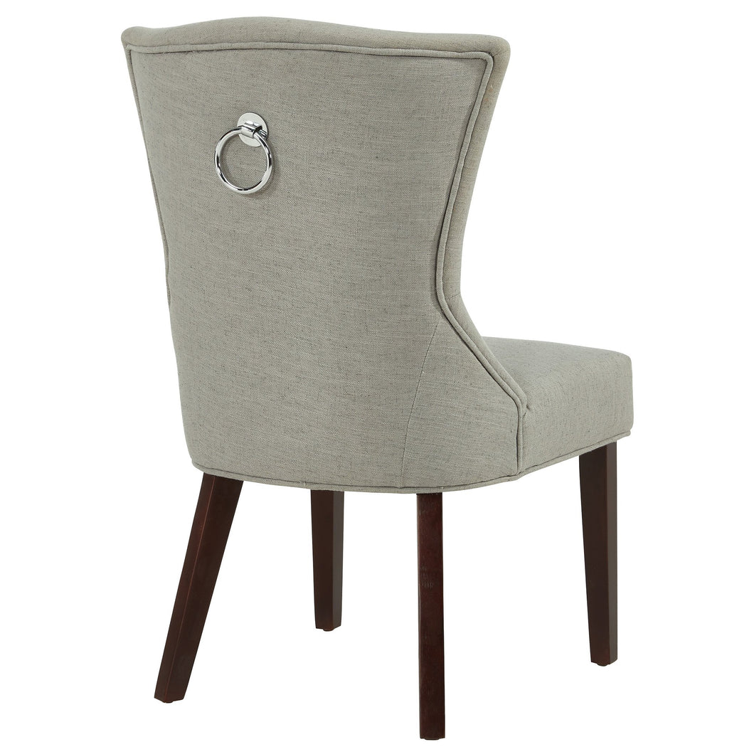 Accent Chair - Grey w/ Coffee Legs