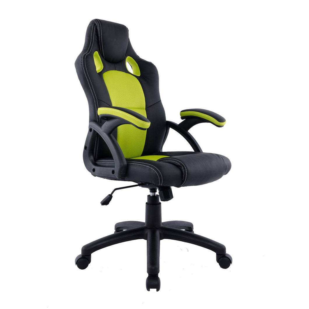 Candace & Basil Furniture |  Etro Office Chair (Green/Black)