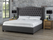 Load image into Gallery viewer, C&B Kailua King Platform Bed - Dark Grey Linen