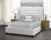 Load image into Gallery viewer, Mali King Platform Bed - White Leatherette