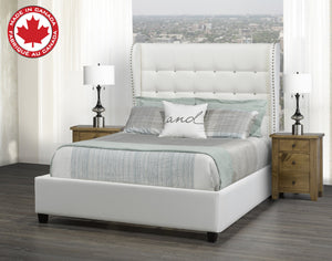 Mali Double/Full Platform Bed - White Leatherette