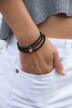 Load image into Gallery viewer, Onyx Amuleto Wrap Bracelet - Small bead