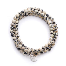 Load image into Gallery viewer, Amuleto Dalmatian Jasper Wrap Bracelet - Small bead
