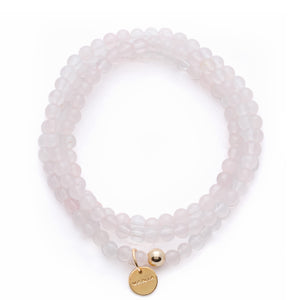 Amuleto Rose Quartz Wrap Bracelet - Small bead