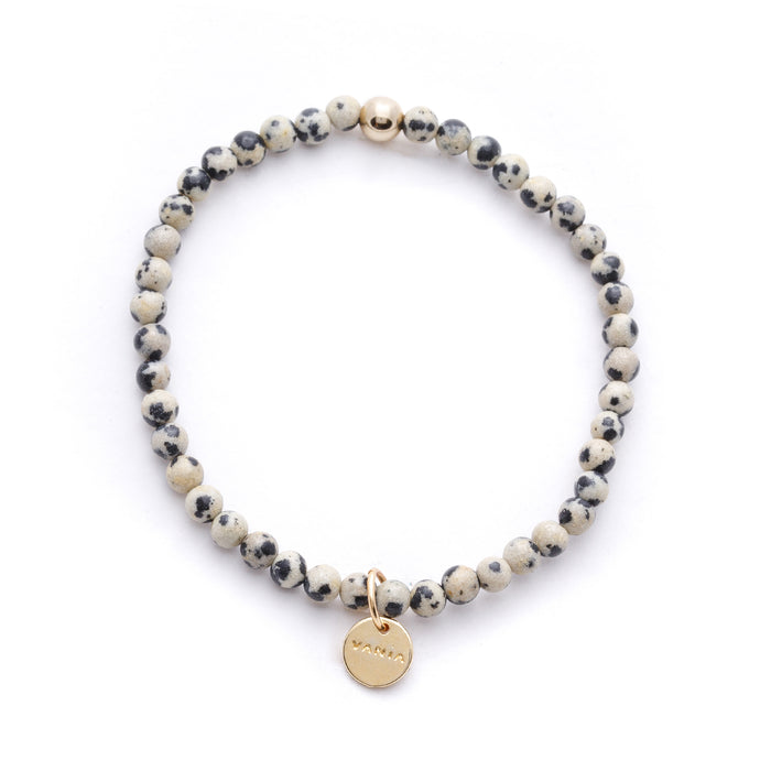 Amuleto Dalmatian Jasper Bracelet for Men - Small bead