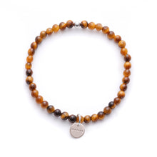 Load image into Gallery viewer, Amuleto Tiger's Eye Bracelet for Men - Small bead