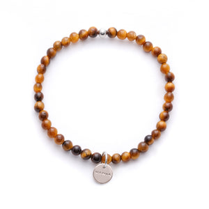 Amuleto Tiger's Eye Bracelet for Men - Small bead