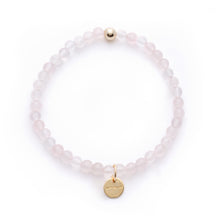 Load image into Gallery viewer, Amuleto Rose Quartz Bracelet - Small bead