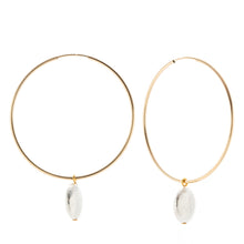 Load image into Gallery viewer, Full Hoop Earrings - Flat circle charm