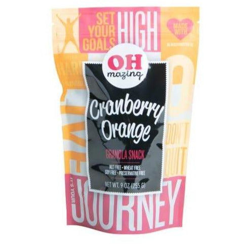 Oh Mazing cranberry orange granola snack bag Something Splendid