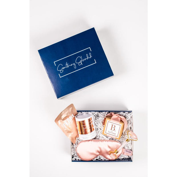 Something Splendid Birthday Girl gift box face mask candle toffee face roller