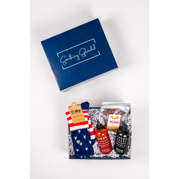Something Splendid Hot Stuff gift box socks sriracha pecans