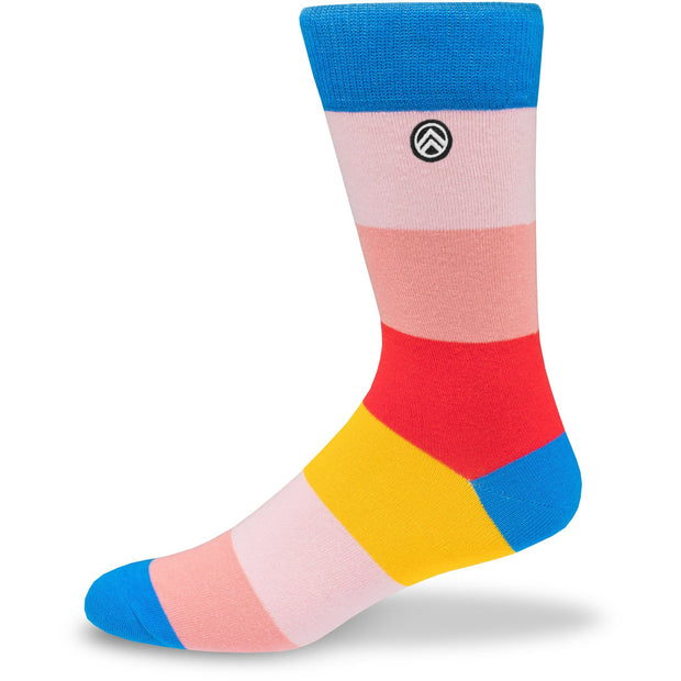 Colorful Block Stripes Crew Socks