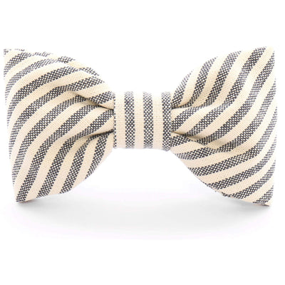 The Foggy Dog - Charcoal Stripe Bow Tie