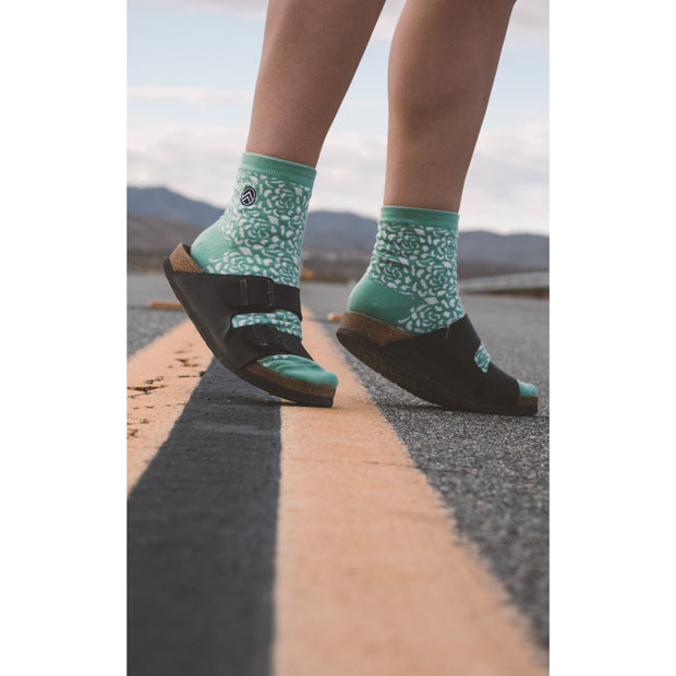 Mint Green Quarter Socks