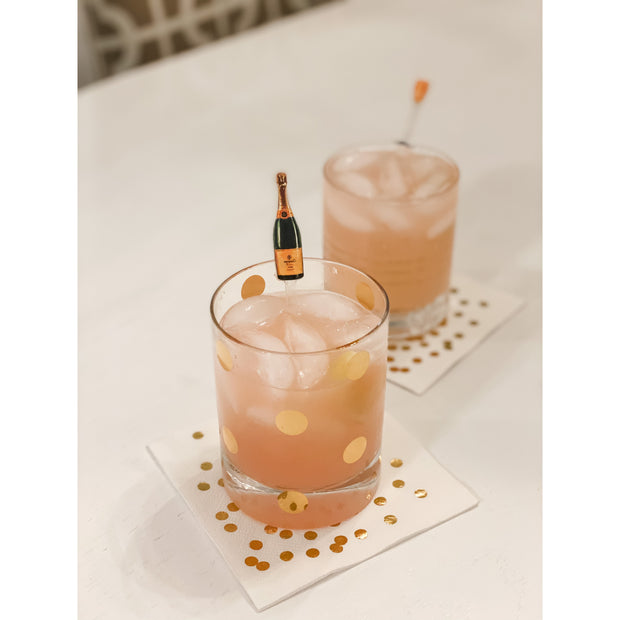 Acrylic Drink Stir Sticks - Champagne Toast