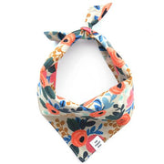 The Foggy Dog - Rosa Floral Natural Bandana
