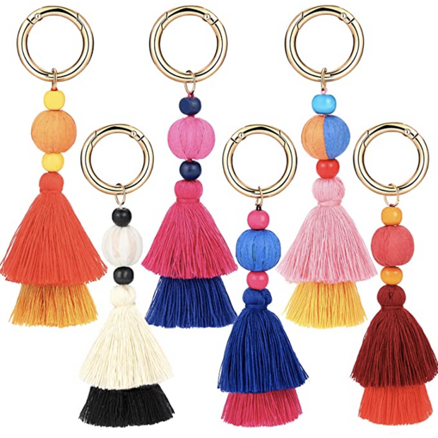 Tassel Keychain with Charm