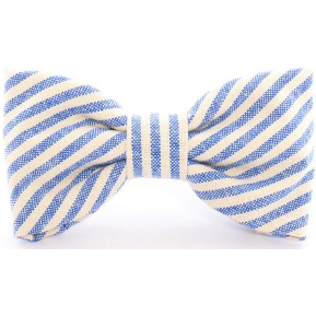 The Foggy Dog - French Blue Stripe Bow Tie
