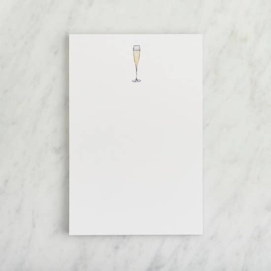 Single Notepad - Champagne Flute