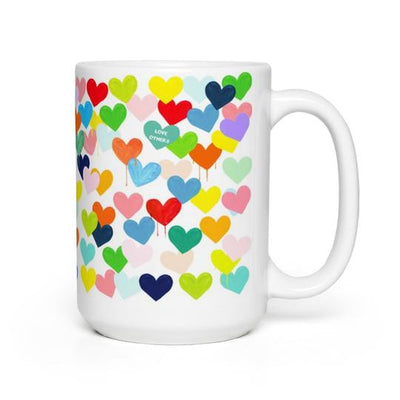 Evelyn Henson - Confetti Hearts Mug