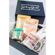 Something Splendid Cake for Breakfast gift box zoomed in with face masks candy coffee mug