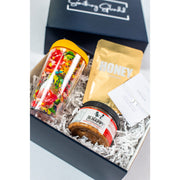 Something Splendid A Little Prayer Gift Box zoomed in with tumbler mask bracelet peanut butter
