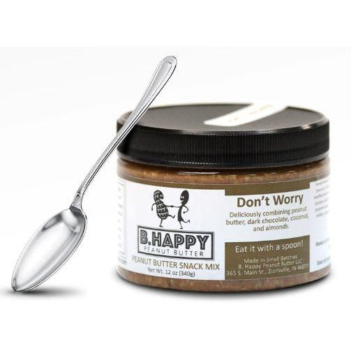 Something Splendid B Happy Peanut Butter Don't Worry  Jar