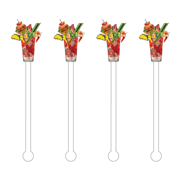 Acrylic Drink Stir Sticks - Bloody Mary