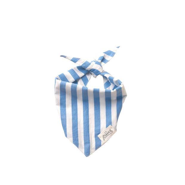Pet Bandana - Cabana Blue Stripes