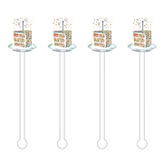 Something Splendid Acrylic Stir Sticks birthday confetti cake