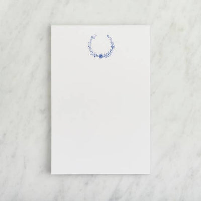 Single Notepad - Floral Blue Ivy