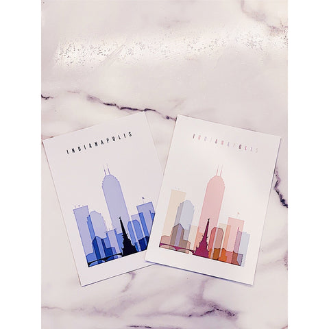 Pastel Prints- Indiana Skyline