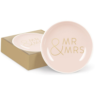 Mr & Mrs Round Mini Tray