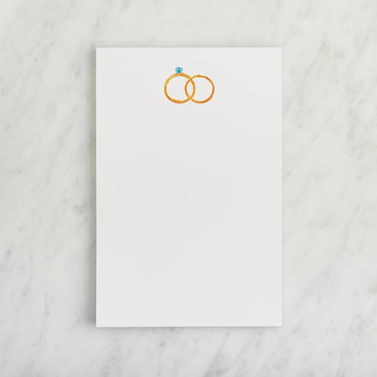 Single Notepad - Wedding Rings