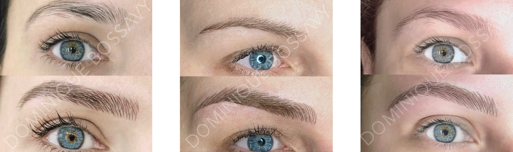 Before and after image of Nanoblading 3D for Eyebrows