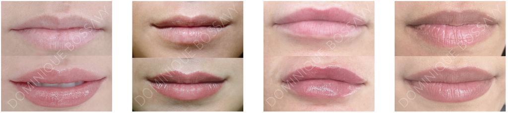 Nano Color Infusion before and after picture: lips