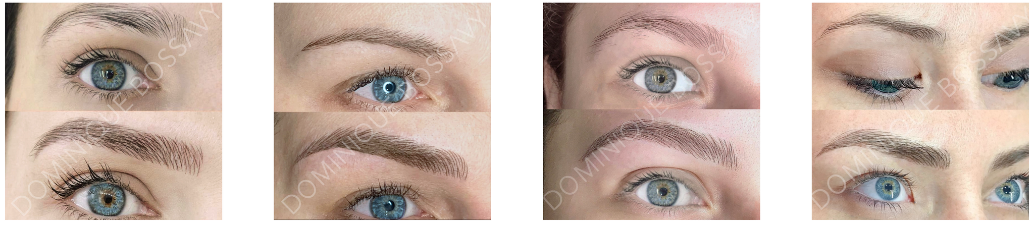 Nano Color Infusion before and after picture: eyebrows